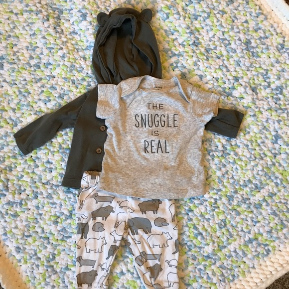 449e35db0 Carter's Matching Sets | Snuggle Is Real 3piece Outfit | Poshmark